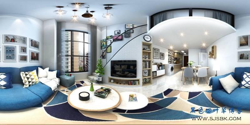 【现代全景】建工新城40平公寓精致小巧设计-第2张图片-赵波设计师_云南昆明室内设计师_黑色四叶草博客