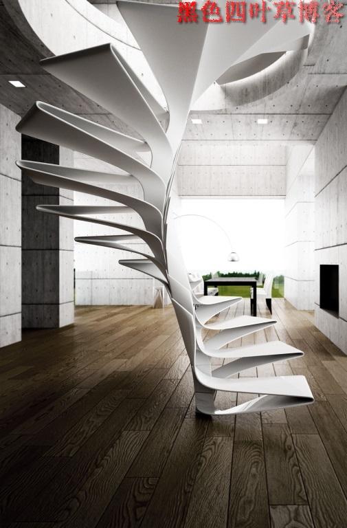 提升设计灵感的楼梯设计,百分之九十你都没见过?-第7张图片-赵波设计师_云南昆明室内设计师_黑色四叶草博客