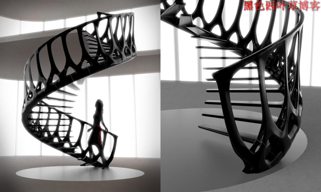 提升设计灵感的楼梯设计,百分之九十你都没见过?-第30张图片-赵波设计师_云南昆明室内设计师_黑色四叶草博客
