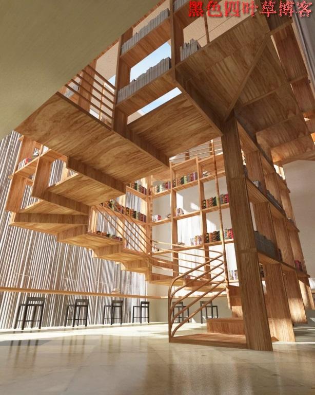 提升设计灵感的楼梯设计,百分之九十你都没见过?-第34张图片-赵波设计师_云南昆明室内设计师_黑色四叶草博客